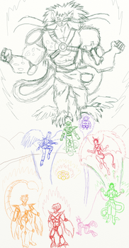 PR-DBZ poster sketch/ideas - by BooRat by BooRat