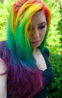 Long Rainbow Hair by lizzys-photos