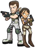 RE5 Chris and Sheva by SandikaRakhim
