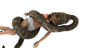 Sexy Model snake vore by swiftbladez