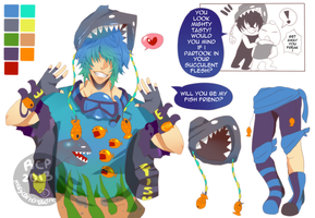Adoptable 18 The Fish Freak [CLOSED] by MHWAdopt