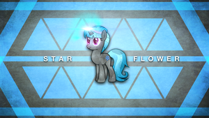 Star Flower Wallpaper by VisualizationBrony