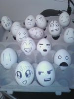 Egg Heads by LiliNeko