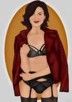 Regina and the Leather jacket by MargiMcarty