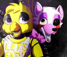 Chica and Mangle by Blood-Witchxxx