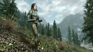 Skyrim Glass Armor - Pine Forest by NefeniCosplay