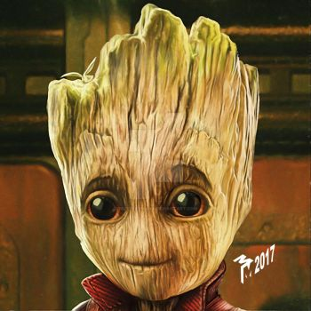 RavagerBabyGroot by muttleymark