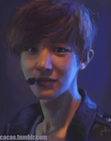 Not-so-creepy Chanyeol by Julia-Yes
