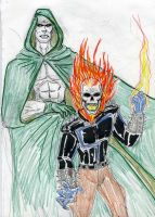 Ghost rider and Spectre by theaven