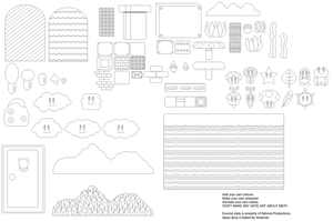Mario Background Objects Kit by Kphoria