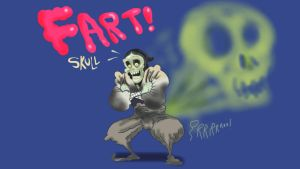 Fart skull Ninja by Makinita
