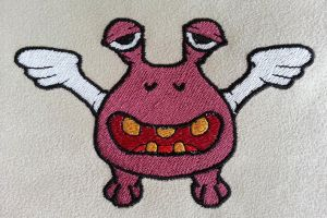 Monster01 Embroidery by Kavel-WB