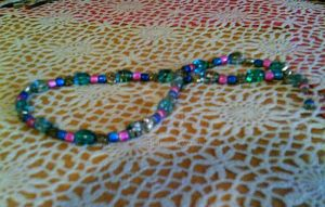 Neon Beaded Necklace by Kendra711