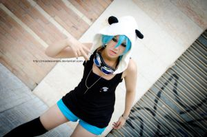 Mikuo Hatsune Panda Hero by MadreSombra