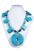 Turquoise Howlite Necklace by MariColl