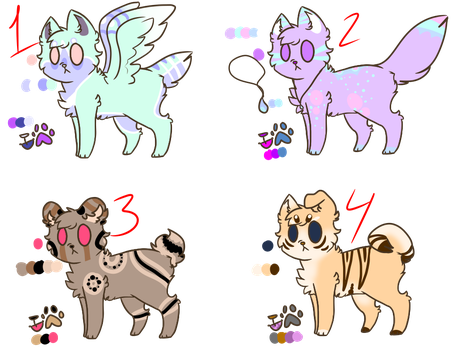 4 smol doggos [CLOSED] by KiwiFox-Adoptables