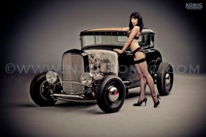 1930s Ford Roadster Lingerie Shoot by megrichmond