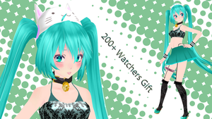 [MMD] 200+ Watcher's Gift Catsune Miku by EvergreenGem