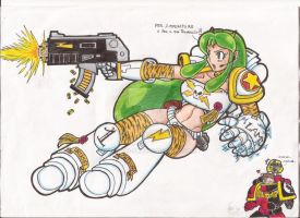 Tactical Space Girl Lum by Lykos-91