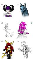 A bunch of sketches by Inferno369
