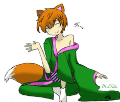 Request + Collab: Fox Gijinka by MieKiki