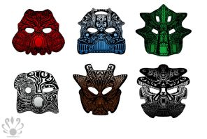 Tribal Toa Tattoos colored by Pearllight180