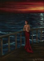 The Red Dress by 3ampainter