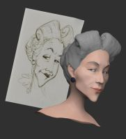 Beauty and the Beast Aunt WIP by shalonpalmer