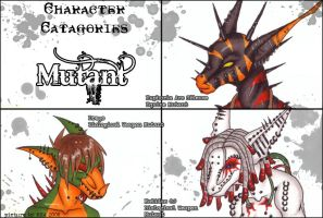 Char Catagories - Mutants by shower-zombie
