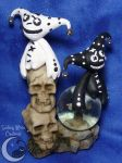 Black and White Harlequin Puppets by SmilingMoonCreations