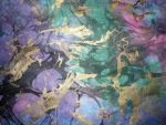 Blue Gold Purple Marbled Paper by Enchantedgal-Stock