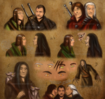 The Witcher - Sketch Dump by Sapphiresenthiss