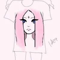 pastelgothic sketch for t-shirts by SannyLunny