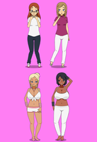 The Pink Room Girls Before and After by Firingwall