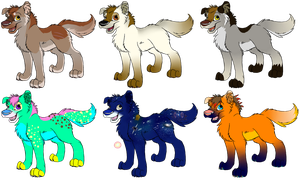 Wolf Pup Adoptables #1 by Silverfang98