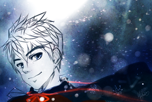 Sketch: Jack Frost by MzzAzn