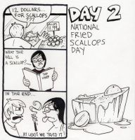 National Fried Scallops Day by YourFathersMustache
