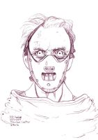Daily Sketches Hannibal Lecter by fedde