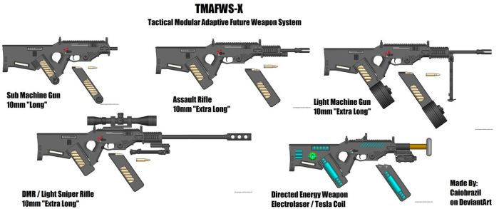 TMAFWS-X Weapon System by caiobrazil