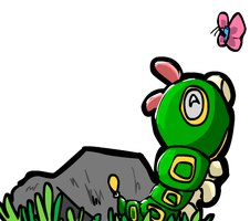Caterpie by Kaylethpop