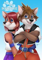 Sora+Kairi - Sherwood Forest 2 by Nyaasu