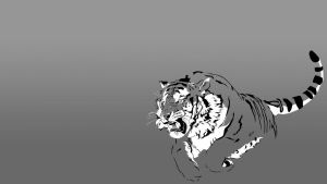 Tiger Desktop Dark by Wallcrawler62