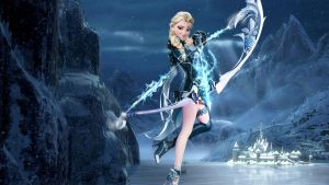 Crossover - 1920x1080 (Elsa - The Frozen Hunter) by CoGraphiC