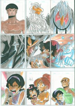 Sketch cards by Jey09