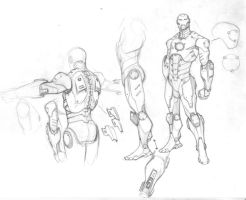 Iron Man Model Sheet by ZurdoM