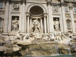 Trevi Fountain by Str8Flush