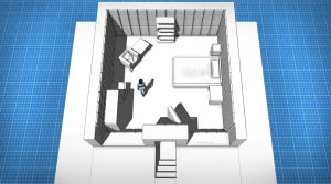 Room Blueprint - Corinna's Padded Cell by longgi