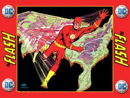 '76 Super DC Calendar - Flash - March by Superman8193