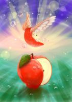 Flying Apple by masha88
