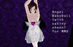 [MMD Download] Angel Babydoll + basic white outfit by Forbidden-Arts
